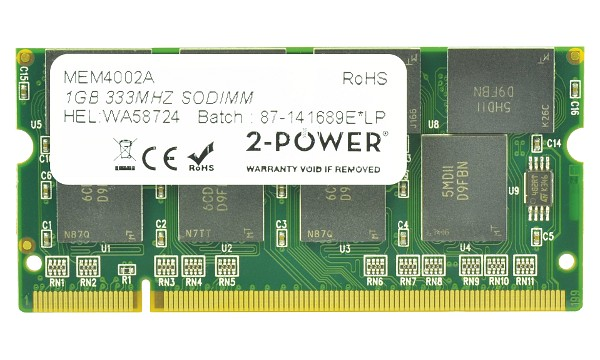 Satellite Pro M40X-136 1GB PC2700 333MHz SODIMM
