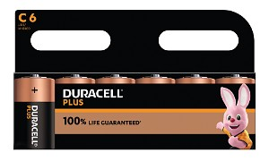 Duracell Plus C Size 6 Pack